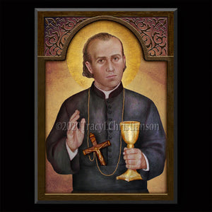 St. Gaspar del Bufalo Plaque & Holy Card Gift Set