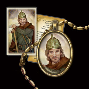 St. Magnus Erlendsson Pendant & Holy Card Gift Set