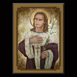 St. Casimir of Poland Plaque & Holy Card Gift Set