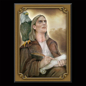 St. John the Evangelist (B) Plaque & Holy Card Gift Set