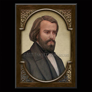 Bl. Frederic Ozanam Plaque & Holy Card Gift Set