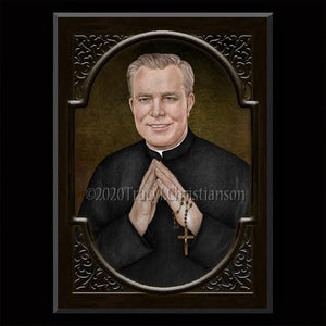 Fr. Patrick Peyton Plaque & Holy Card Gift Set