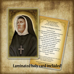 St. Rose Philippine Duchesne Plaque & Holy Card Gift Set