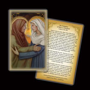 The Visitation of the Bl. Virgin Mary to St. Elizabeth Holy Card
