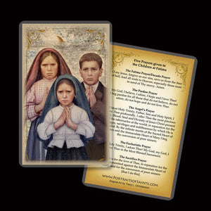 Fatima Children Holy Card