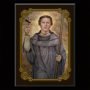 St. Magnus of Fussen Plaque & Holy Card Gift Set