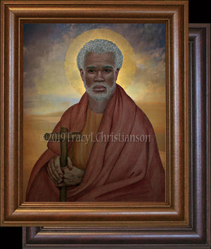 St. Moses the Black (The Ethiopian) Framed