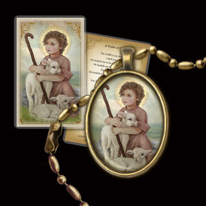 The Little Shepherd Pendant & Holy Card Gift Set