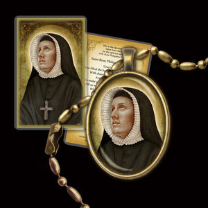 St. Rose Philippine Duchesne Pendant & Holy Card Gift Set