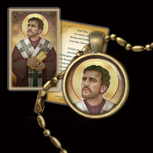 St. Titus Pendant & Holy Card Gift Set