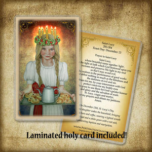 St. Lucia Plaque & Holy Card Gift Set