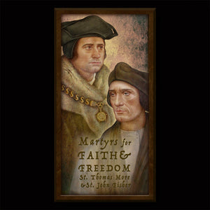 St. Thomas More & St. John Fisher Inspirational Plaque