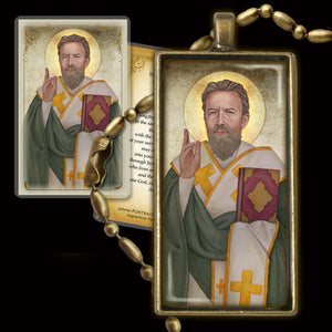 St. Cyril of Jerusalem Pendant & Holy Card Gift Set
