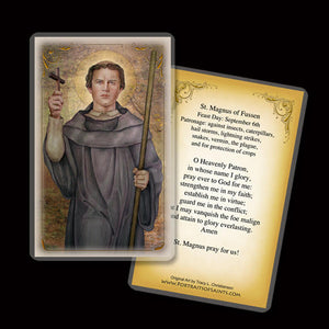 St. Magnus of Fussen Holy Card