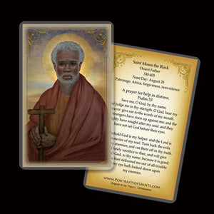 St. Moses the Black (The Ethiopian) Holy Card