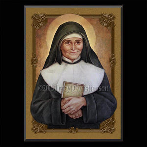 St. Julie Billiart Plaque & Holy Card Gift Set