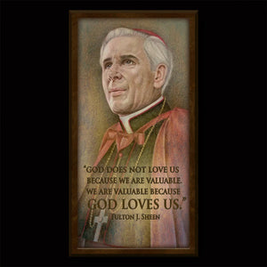 Venerable Bishop Fulton Sheen Inspirational Plaque