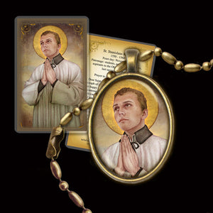 St. Stanislaus Kostka Pendant & Holy Card Gift Set