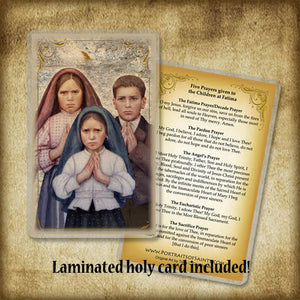Fatima Children Plaque & Holy Card Gift Set