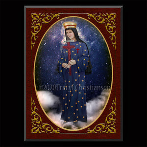 Our Lady of Pontmain Plaque & Holy Card Gift Set
