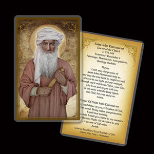 St. John Damascene Holy Card
