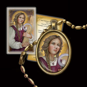 St. Notburga Pendant & Holy Card Gift Set