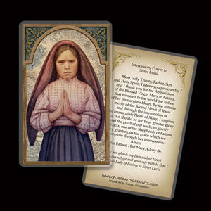 Sr. Lucia of Fatima Holy Card