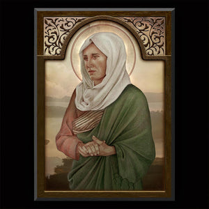 St. Paula of Rome Plaque & Holy Card Gift Set