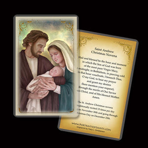 Holy Family (H) Holy Card and St. Andrew Christmas Novena