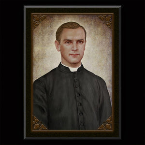 Fr. Michael McGivney Plaque & Holy Card Gift Set