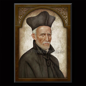 St. Joseph Calasanz Plaque & Holy Card Gift Set
