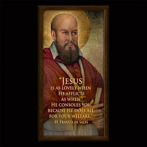 St. Francis de Sales Inspirational Plaque