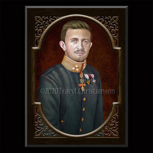 Bl. Karl of Austria Plaque & Holy Card Gift Set