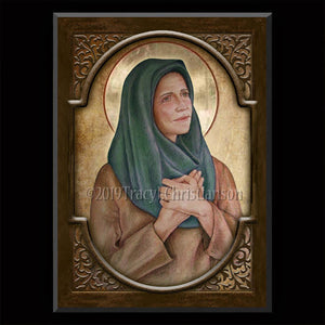 St. Hannah Plaque & Holy Card Gift Set
