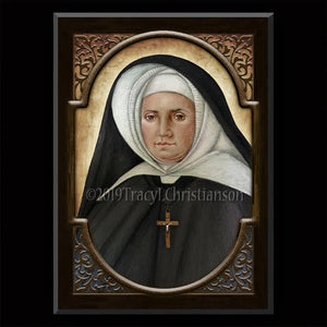 St. Emily de Vialar Plaque & Holy Card Gift Set
