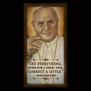 Pope St. John XXIII Inspirational Plaque
