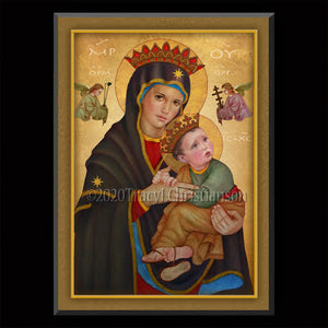 Our Lady of Perpetual Help Plaque & Holy Card Gift Set