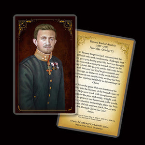 Bl. Karl of Austria Holy Card