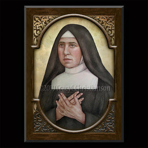 St. Pauline of the Agonizing Heart of Jesus Plaque & Holy Card Gift Set