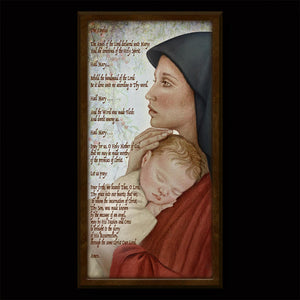 The Angelus Prayer Inspirational Plaque