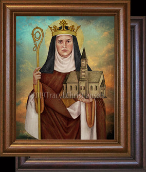 St. Hilda of Whitby Framed