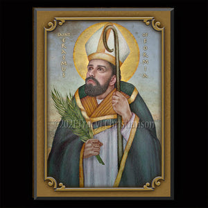 St. Erasmus of Formia Plaque & Holy Card Gift Set