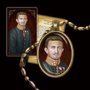 Bl. Karl of Austria Pendant & Holy Card Gift Set