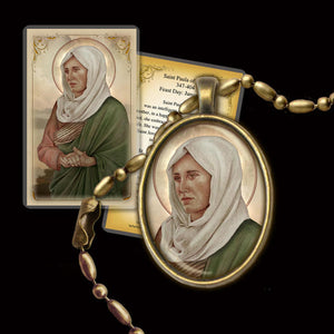 St. Paula of Rome Pendant & Holy Card Gift Set