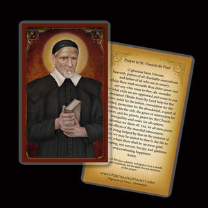 St. Vincent de Paul Holy Card