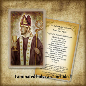 St. Richard of Chichester Plaque & Holy Card Gift Set