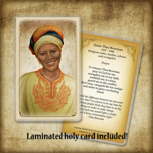 Sr. Thea Bowman Pendant & Holy Card Gift Set