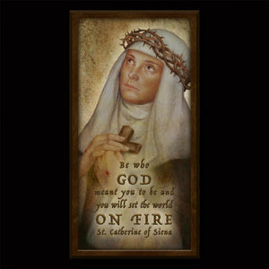 St. Catherine of Siena Inspirational Plaque