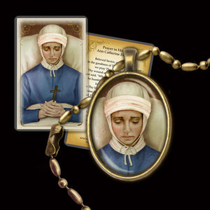 Bl. Anne Catherine Emmerich Pendant & Holy Card Gift Set