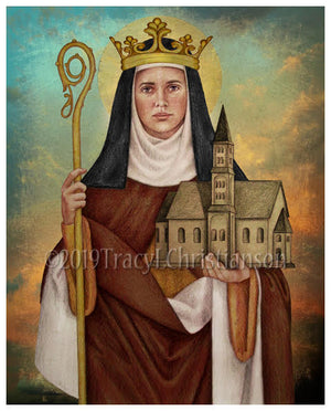 St. Hilda of Whitby Print